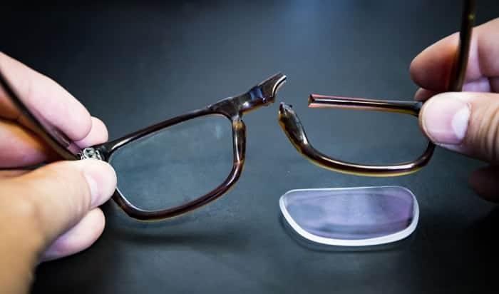 how to fix broken glasses bridge