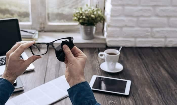 How-do-you-clean-clear-frame-glasses
