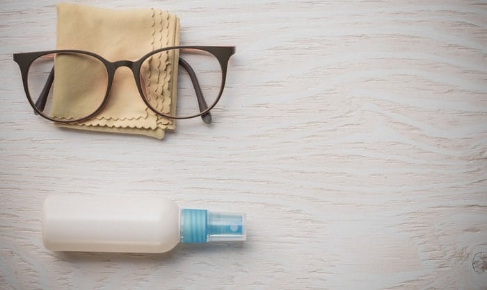 how to remove sweat stains from glasses frames