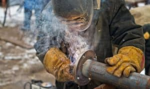 what do welding gloves protect against