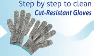 how to clean cut resistant gloves
